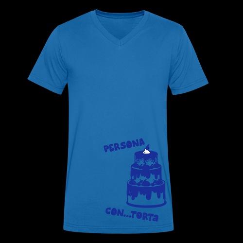 torta3 - T-shirt ecologica da uomo con scollo a V di Stanley & Stella