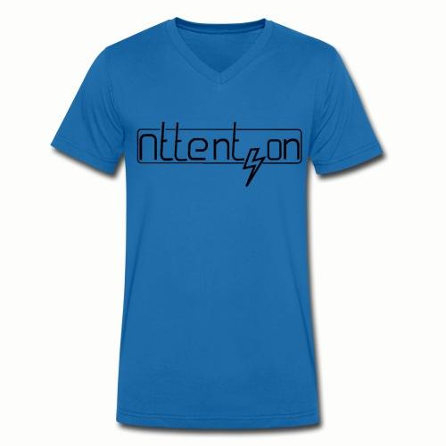 attention - Mannen bio T-shirt met V-hals van Stanley & Stella
