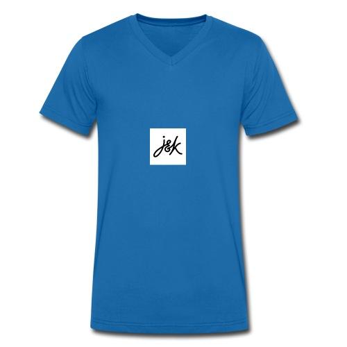 J K - Men's Organic V-Neck T-Shirt by Stanley & Stella