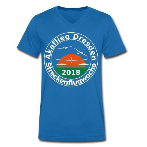 Streckenflugwoche Akaflieg Dresden 2018 - Männer Bio-T-Shirt mit V-Ausschnitt von Stanley & Stella