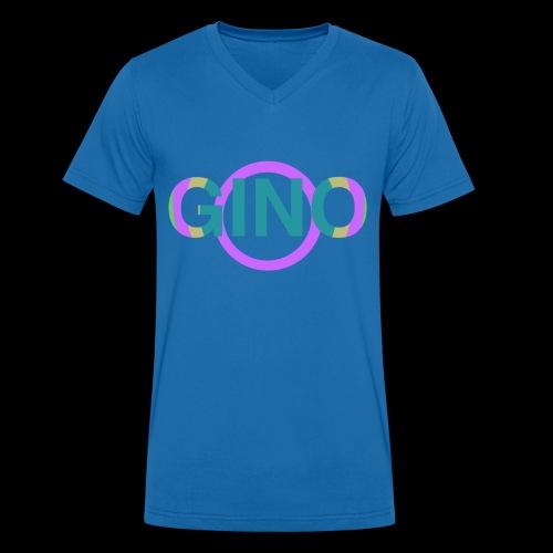 Gino - Mannen bio T-shirt met V-hals van Stanley & Stella