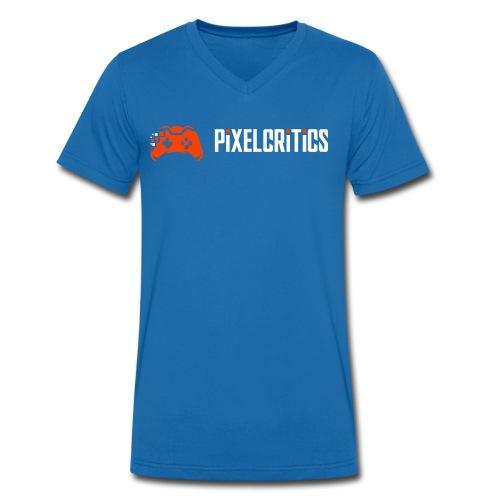 Pixelcritics Logo Schrift Links - Männer Bio-T-Shirt mit V-Ausschnitt von Stanley & Stella
