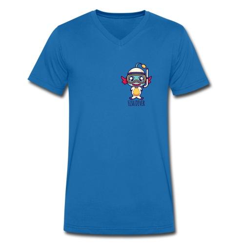 Fish Diver - Männer Bio-T-Shirt mit V-Ausschnitt von Stanley & Stella