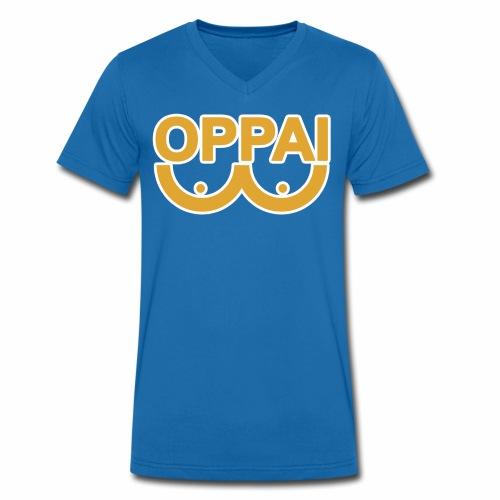 oppai - Økologisk T-skjorte med V-hals for menn fra Stanley & Stella
