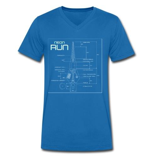 NeonRun - Mannen bio T-shirt met V-hals van Stanley & Stella
