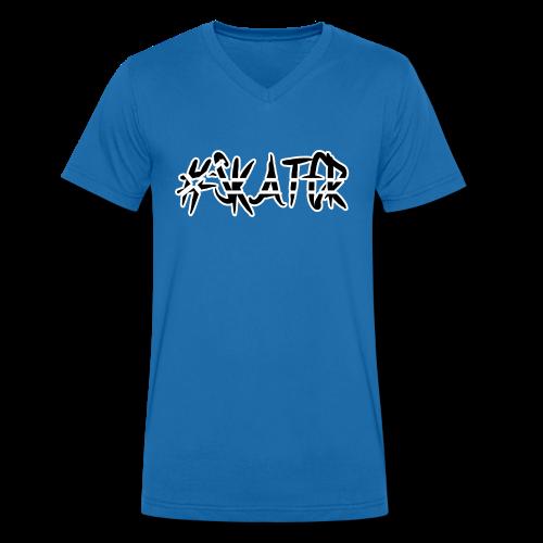 #Skater black - Männer Bio-T-Shirt mit V-Ausschnitt von Stanley & Stella
