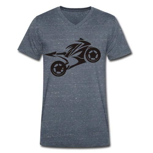Motorcycle Wheelie - Männer Bio-T-Shirt mit V-Ausschnitt von Stanley & Stella