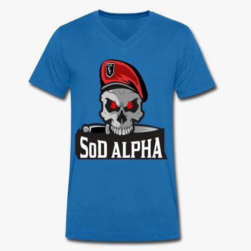 SoD ALPHA TEAM - Männer Bio-T-Shirt mit V-Ausschnitt von Stanley & Stella