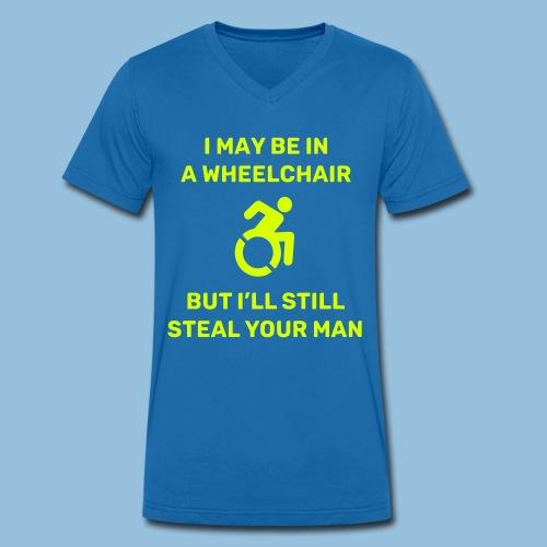 Steal2 - Mannen bio T-shirt met V-hals van Stanley & Stella