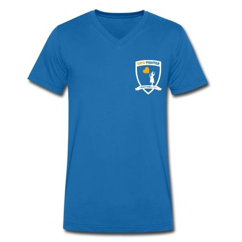DIPG Wappen Weiß - Männer Bio-T-Shirt mit V-Ausschnitt von Stanley & Stella