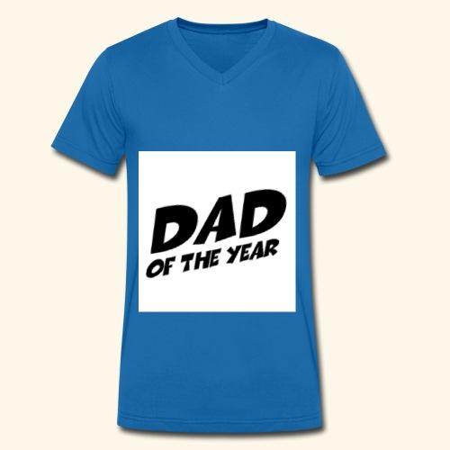 Årets pappa - Økologisk T-skjorte med V-hals for menn fra Stanley & Stella