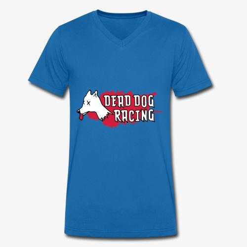Dead dog racing logo - Men's Organic V-Neck T-Shirt by Stanley & Stella