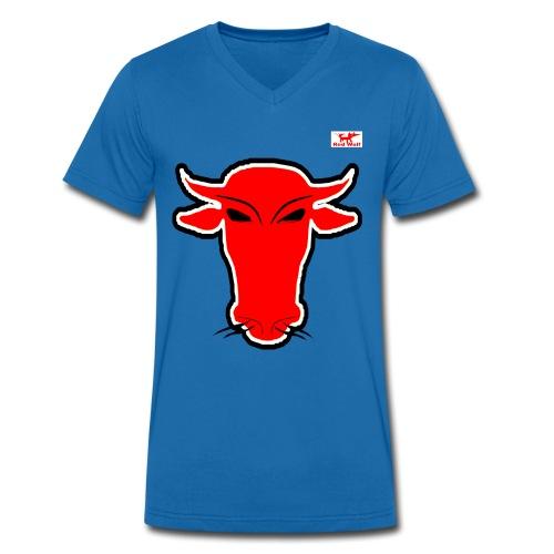 schnauffender Bulle - Männer Bio-T-Shirt mit V-Ausschnitt von Stanley & Stella