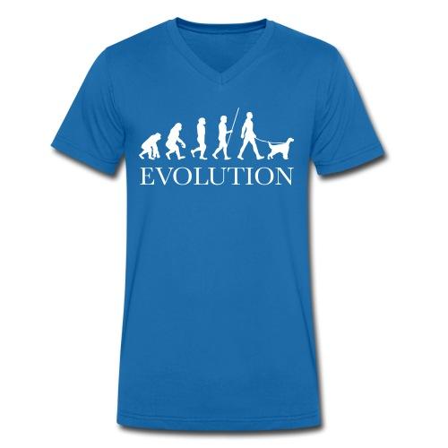 EVOLUTION - HUNTING STYLE - T-shirt ecologica da uomo con scollo a V di Stanley & Stella