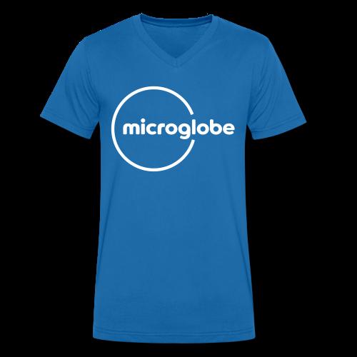 microglobe Logo - Männer Bio-T-Shirt mit V-Ausschnitt von Stanley & Stella