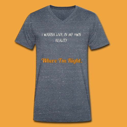 Quote 82 - Men's Organic V-Neck T-Shirt by Stanley & Stella