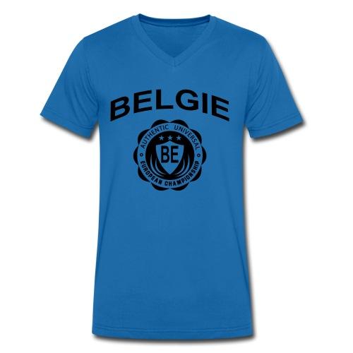 België - Mannen bio T-shirt met V-hals van Stanley & Stella