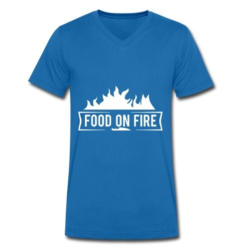 Food on Fire - Männer Bio-T-Shirt mit V-Ausschnitt von Stanley & Stella