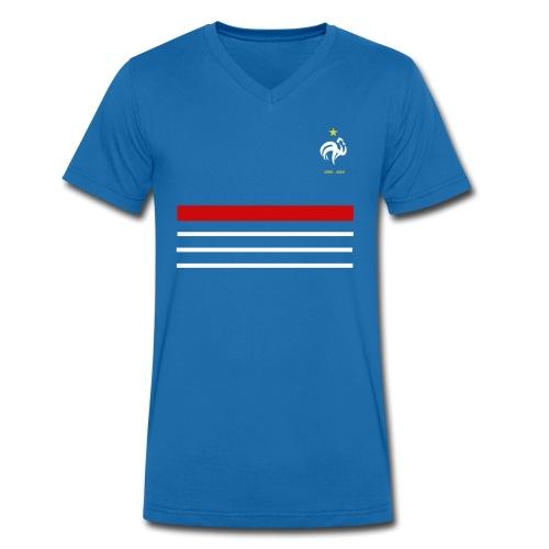 Maillot France 98 - 2018 Equipe de France - T-shirt bio col V Stanley & Stella Homme