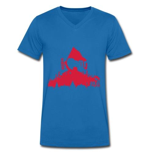 Dresden Demo weiss rot - Männer Bio-T-Shirt mit V-Ausschnitt von Stanley & Stella