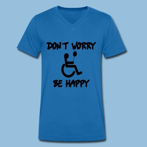 dontworry - Mannen bio T-shirt met V-hals van Stanley & Stella