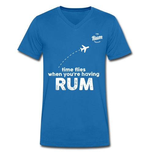 TIME FLIES WHEN YOU'RE HAVING RUM - Men's Organic V-Neck T-Shirt by Stanley & Stella