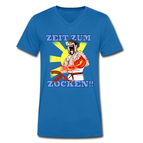 Zeit zum Zocken!! - Männer Bio-T-Shirt mit V-Ausschnitt von Stanley & Stella