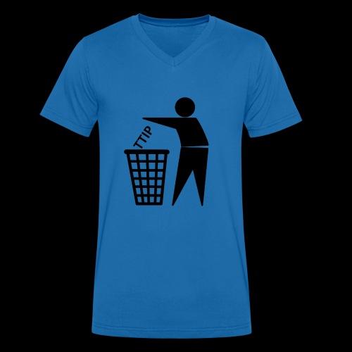 TTIP in die Tonne - Männer Bio-T-Shirt mit V-Ausschnitt von Stanley & Stella