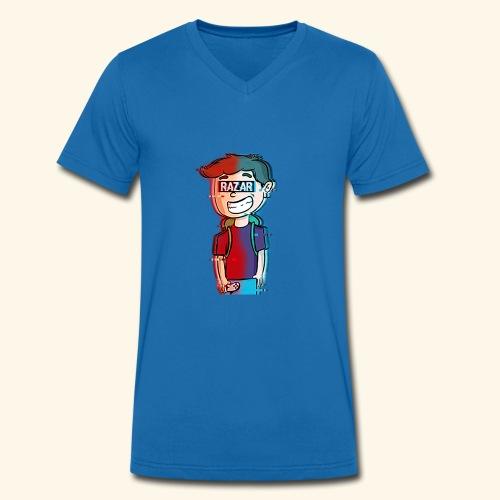 Hacked Manu - Männer Bio-T-Shirt mit V-Ausschnitt von Stanley & Stella