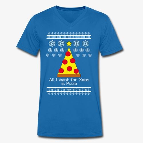 All i want for X-mas is Pizza - Männer Bio-T-Shirt mit V-Ausschnitt von Stanley & Stella