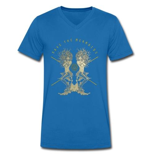 Meerjungfrau See Abenteuer Sirenen TShirt - Männer Bio-T-Shirt mit V-Ausschnitt von Stanley & Stella