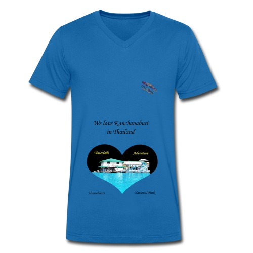 Kanchanaburi Adventure Shirt Randy Design - Männer Bio-T-Shirt mit V-Ausschnitt von Stanley & Stella