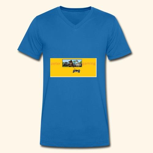 peter gaming - Men's Organic V-Neck T-Shirt by Stanley & Stella