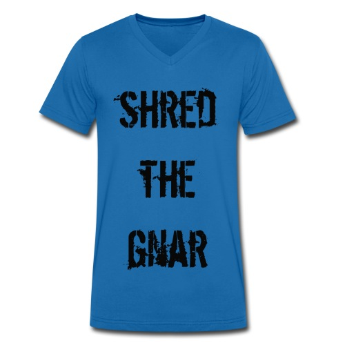 Shred the Gnar - Men's Organic V-Neck T-Shirt by Stanley & Stella