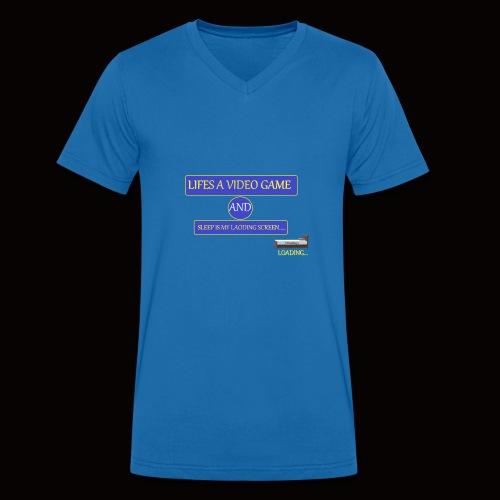 video sleep - Men's Organic V-Neck T-Shirt by Stanley & Stella