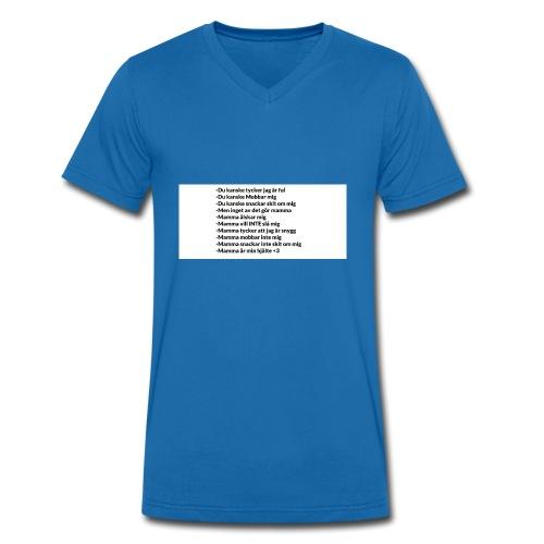 Mamma tröja som gör din mamma glad :) - Ekologisk T-shirt med V-ringning herr från Stanley & Stella