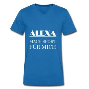 alexa mach SPORT für mich - Männer Bio-T-Shirt mit V-Ausschnitt von Stanley & Stella