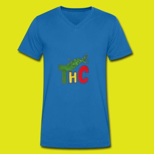 THC logo one - T-shirt ecologica da uomo con scollo a V di Stanley & Stella