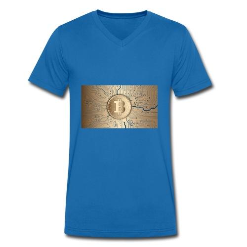 bitcoin 3089728 1920 - Männer Bio-T-Shirt mit V-Ausschnitt von Stanley & Stella