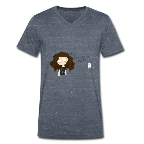 He is watching me? - T-shirt bio col V Stanley & Stella Homme