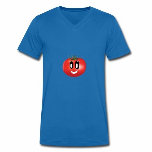 Lachende Tomate - Männer Bio-T-Shirt mit V-Ausschnitt von Stanley & Stella
