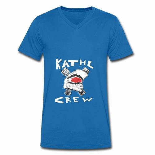 Kathl Crew Logo mit Schriftzug - Männer Bio-T-Shirt mit V-Ausschnitt von Stanley & Stella