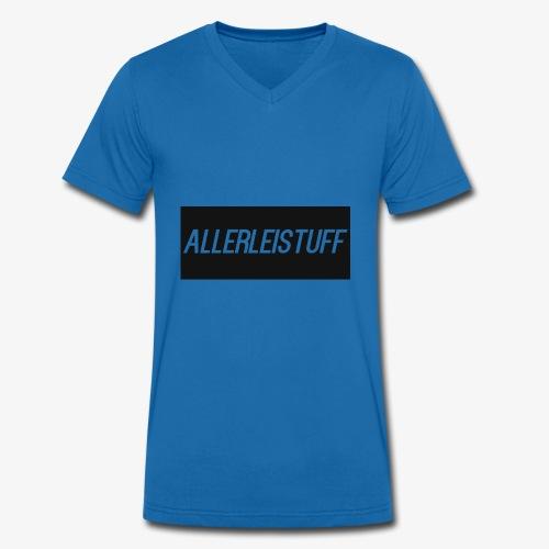 AllerleiStuff Zwart - Mannen bio T-shirt met V-hals van Stanley & Stella