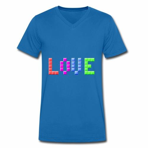 Love Puzzle - Männer Bio-T-Shirt mit V-Ausschnitt von Stanley & Stella