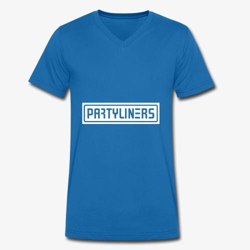 PARTYLINERS Design - Økologisk Stanley & Stella T-shirt med V-udskæring til herrer
