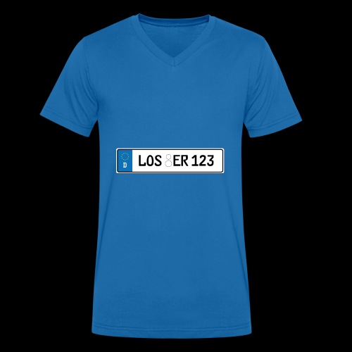 Kennzeichen Loser - Männer Bio-T-Shirt mit V-Ausschnitt von Stanley & Stella