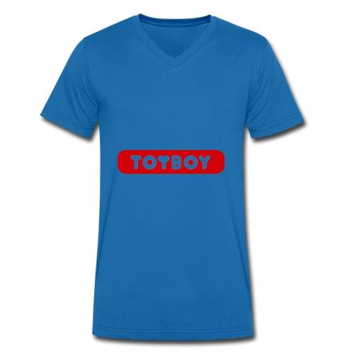 toyboy logo red - Männer Bio-T-Shirt mit V-Ausschnitt von Stanley & Stella