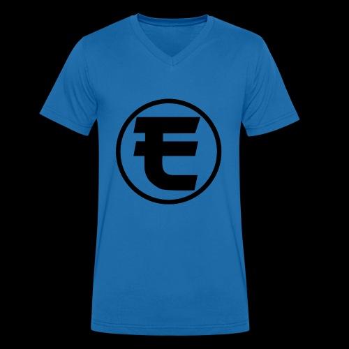 Evanus T-Shirt Wit - Mannen bio T-shirt met V-hals van Stanley & Stella