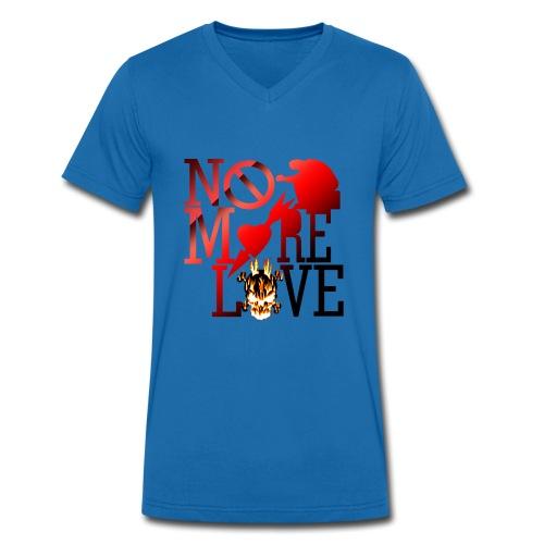 get no love - Men's Organic V-Neck T-Shirt by Stanley & Stella
