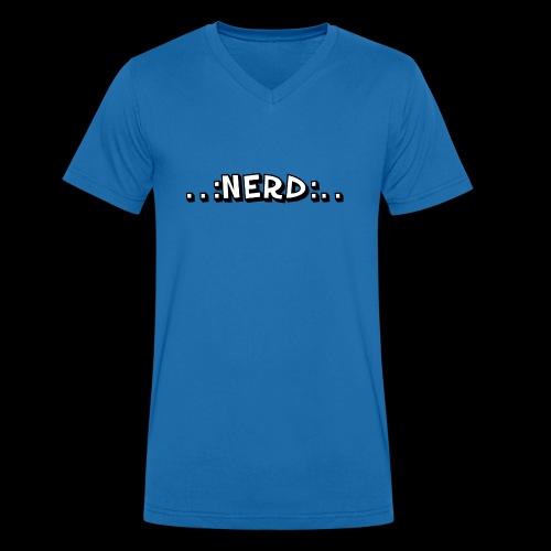 Nerd - Männer Bio-T-Shirt mit V-Ausschnitt von Stanley & Stella